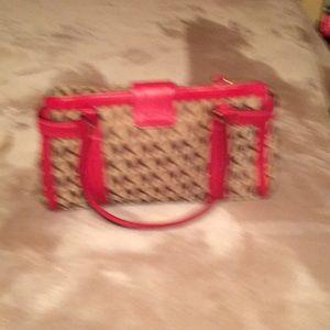 Michael Kors Bags - Red and tan Michael Kors handbag